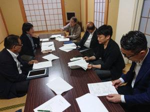 「敦賀西町の綱引き伝承協議会の運営委員会」に出席しました。