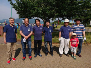 金ヶ崎緑地とその周辺の清掃