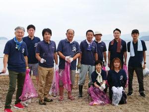 松原海水浴場の清掃活動