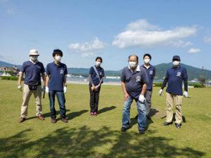 金ヶ崎緑地の定例清掃