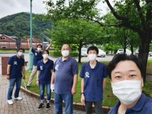定例の金ヶ崎緑地の清掃