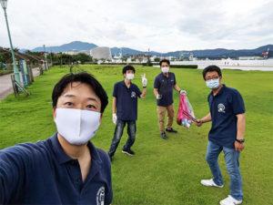 金ヶ崎緑地の清掃