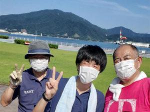 8月度金ヶ崎緑地清掃