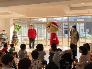 藤ヶ丘保育園ツヌガ君サンタの保育園訪問