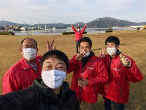 今年最後の金ヶ崎緑地の清掃活動日