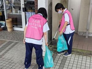 金ヶ崎緑地清掃後からのおもてなし隊活動