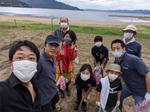 毎年恒例の松原海岸清掃