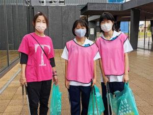 氣比神宮と商店街の清掃