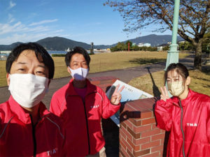 金ヶ崎緑地の月例清掃